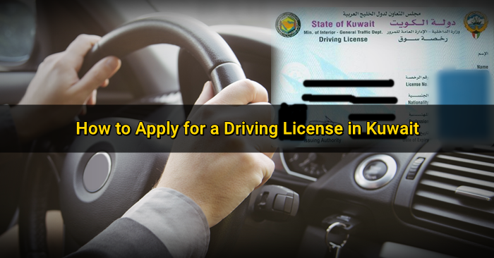 driving license application in kuwait