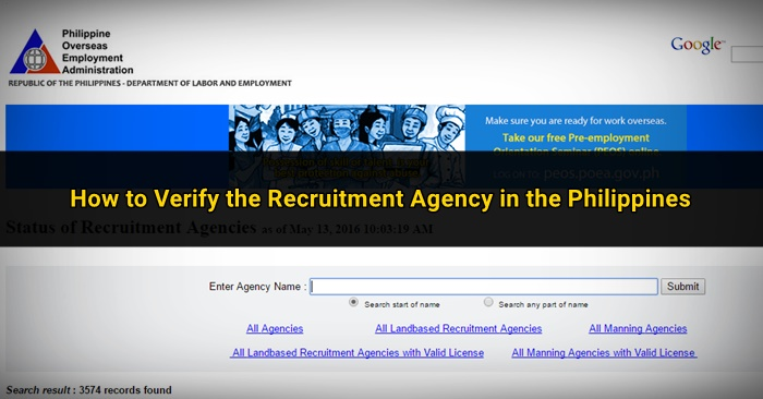 How to Check the License status of Recruitment Agencies in