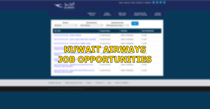 Kuwait Airways Job Opening August 2019 | Kuwait OFW