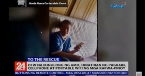 [WATCH] Fellow-OFWs Rescue a Friend Locked up by Employer in Kuwait