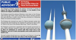 Phil Embassy Reminds Filipinos to Avoid Posting Unacceptable Videos on Tiktok and Social Media